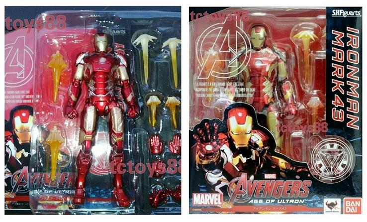 S.H.Figuarts SHF Ironman Mark 43 'Age Of Ultron'. Action Figure