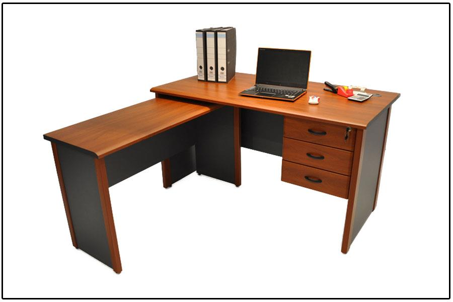 S Infinite Writing Desk With Drawers And Side Return