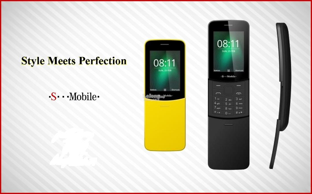 S Mobile 8110 Flip Phone Camera Dual Sim 1000mAh Battery Life
