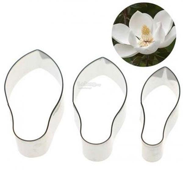 S/S Magnolia Flower Cutter Set 3 pcs