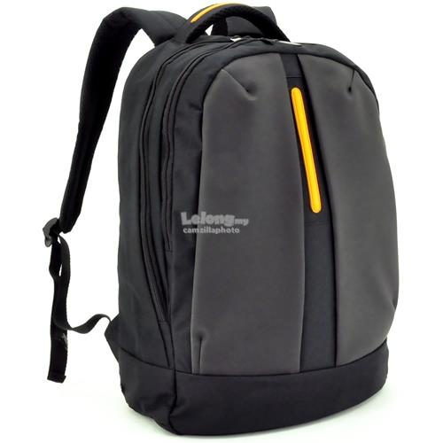 S02-157LAP-05 LAPTOP BACKPACK - BLACK ORANGE