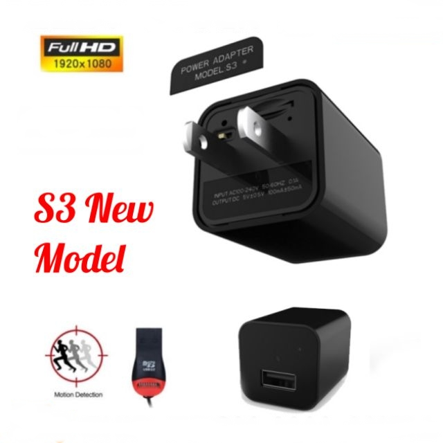 S3 FHD1080P Spy Camera USB Wall Charger Mini US/EU Plug AC Adapter Nanny Camco