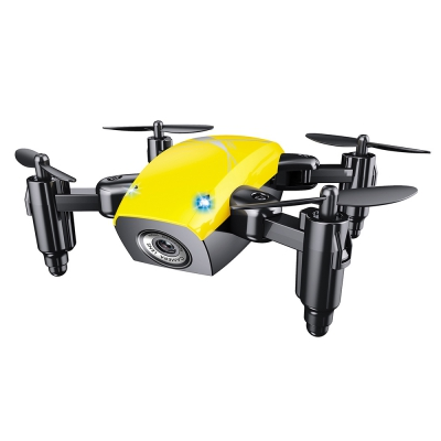 S9 Micro RC Quadcopter Yellow + WIFI FPV 0.3MP CAMERA + ALTITUDE HOLD