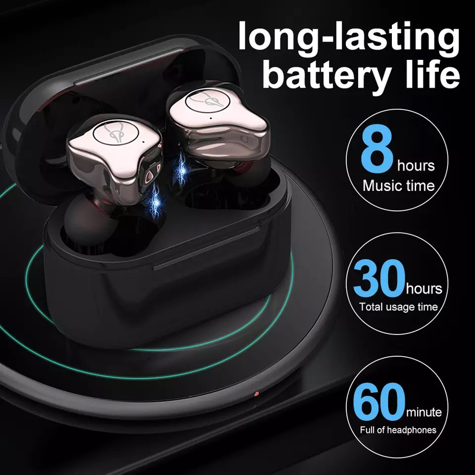 Sabbat E12 Pro Bluetooth 5.0 TWS Wireless Charging Box HiFi In Ear Earphone