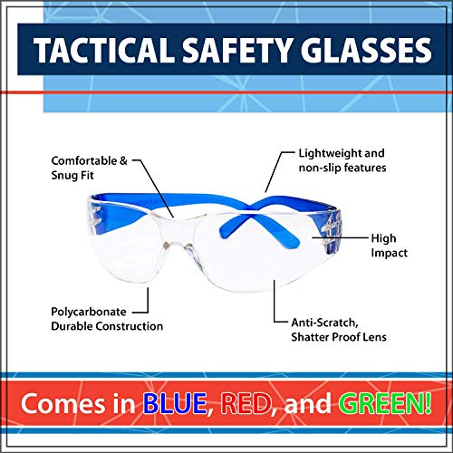 SAFE HANDLER Protective Safety Glasses | UV  & Anti-Scratch, Impact and Ballis