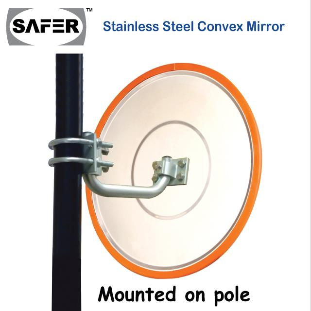 SAFER STAINLESS STEEL CONVEX MIRROR 490mm