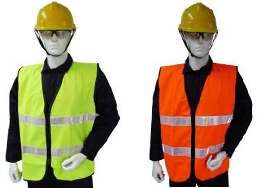 Safety Apparel Vest Polyester Tricot 2 Horizontal Reflector Front Back