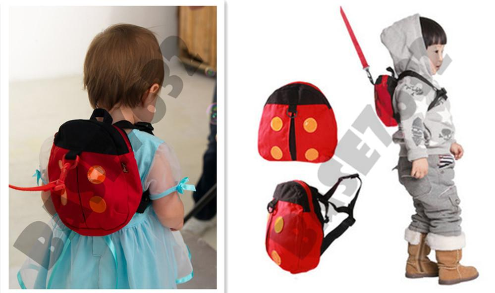 Safety  Cute Kid Child Ladybug Ladybird Baby Bag Anti Lost Backpack