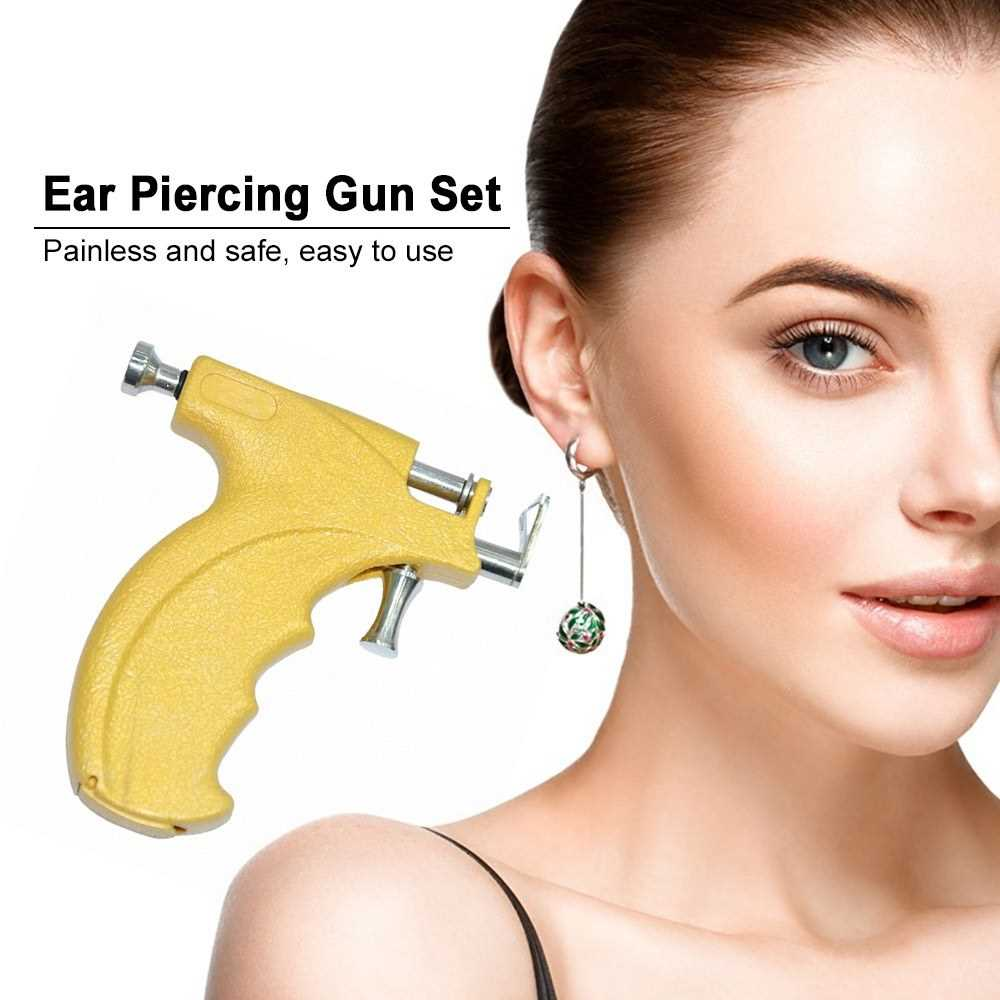 Safety Ear Nose Navel Body Piercing Gun Tool Kit Set