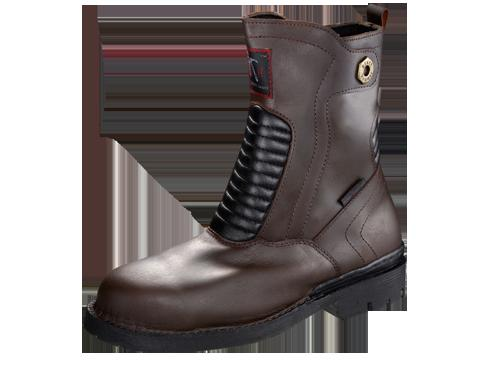 Safety Shoes Black Hammer Men High Cut Zip Brown BH4203