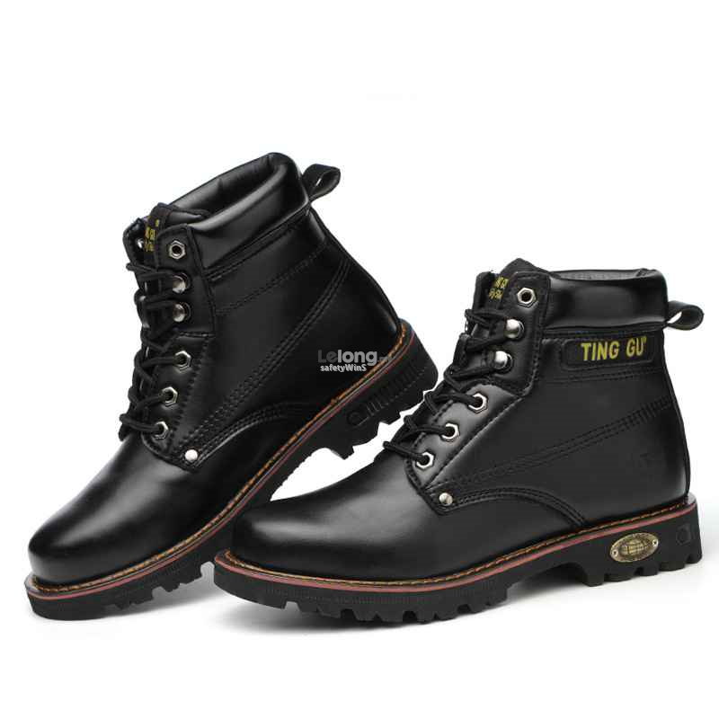 Safety Shoes -Half Cut, Black or Yellow leather materials