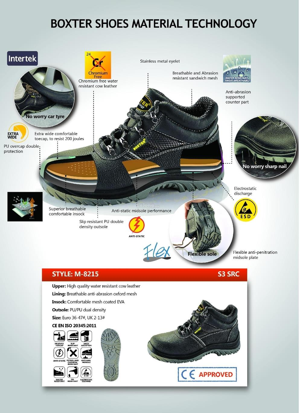 Safety Shoes-ESD,Steel toe cap,light weight,soft sole