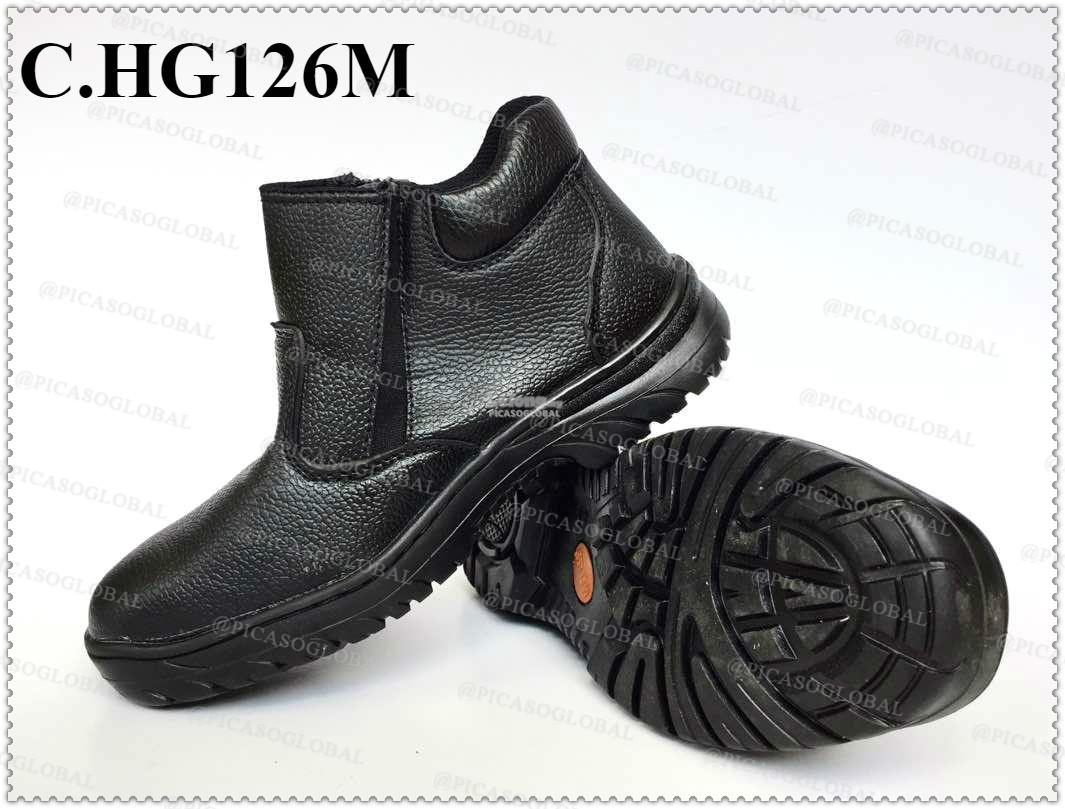 Safety Shoes [ PVC with Metal Toe Cap and Midplate ] with zipper