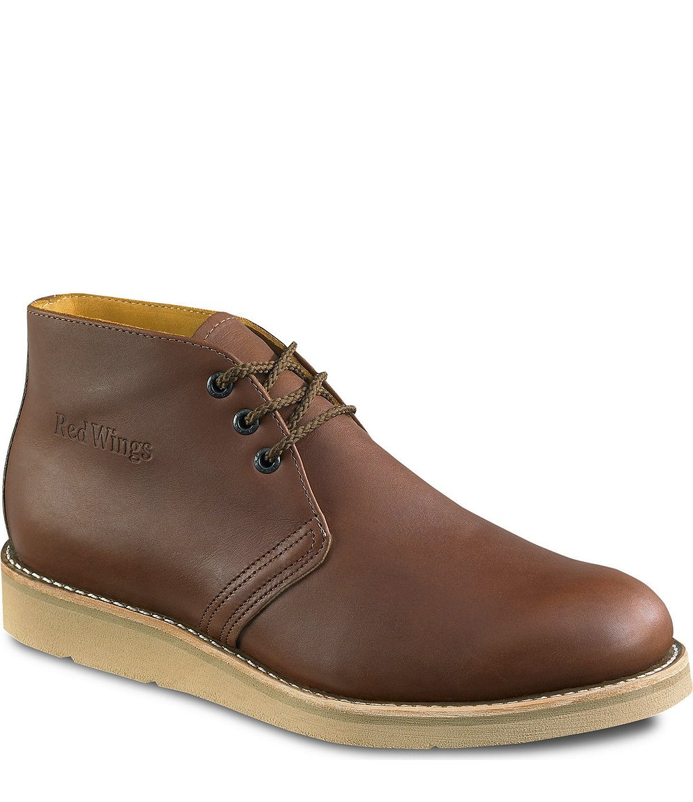 Safety Shoes Red Wing Men Medium Chukka Brown EH 595