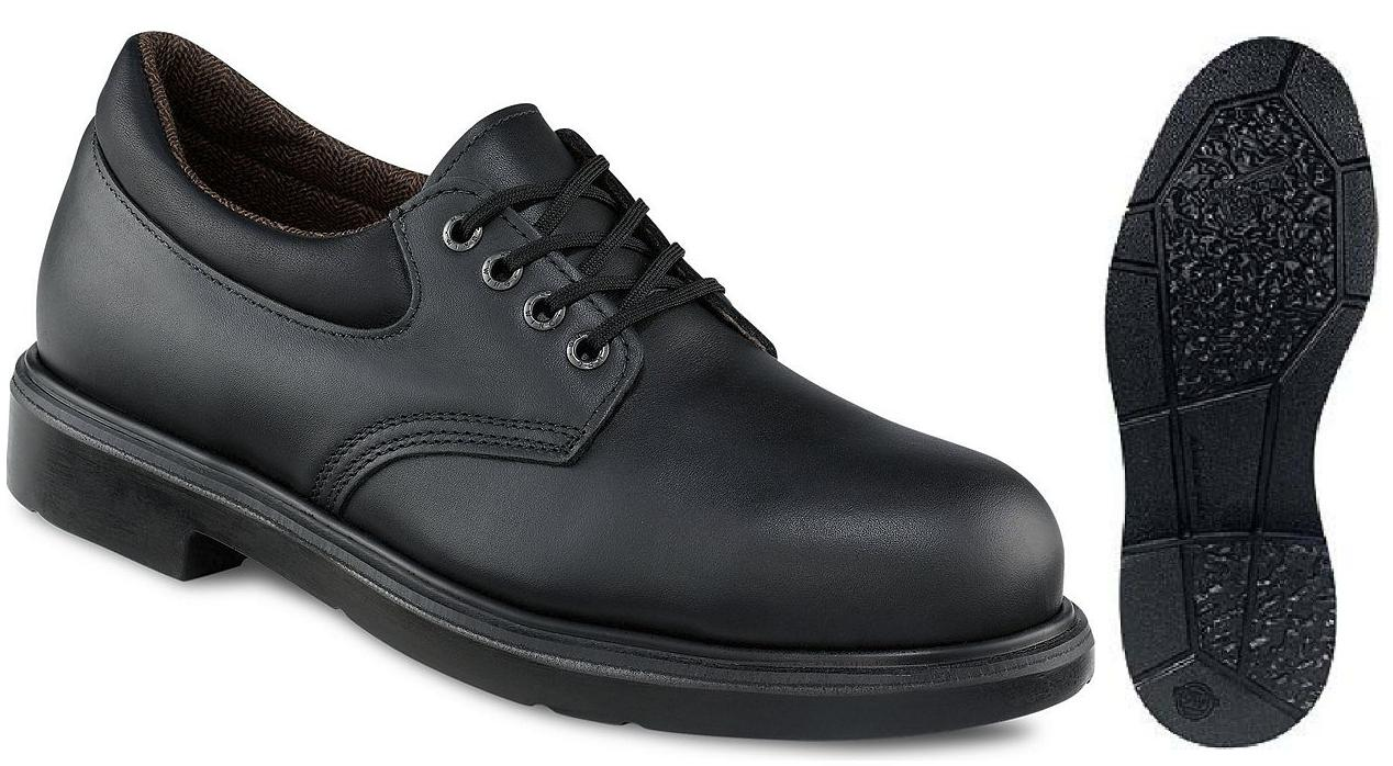 Safety Shoes Red Wing Men Oxford Low Lace Black EH ST 4408