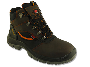 Safety Shoes Rhino Medium Cut Lace Up Dark Brown CH201SP ST