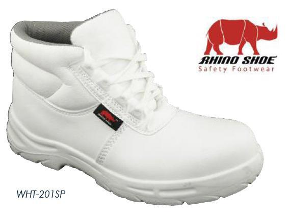Safety Shoes Rhino Mid Cut Lace Up White WHT201SP ST WP