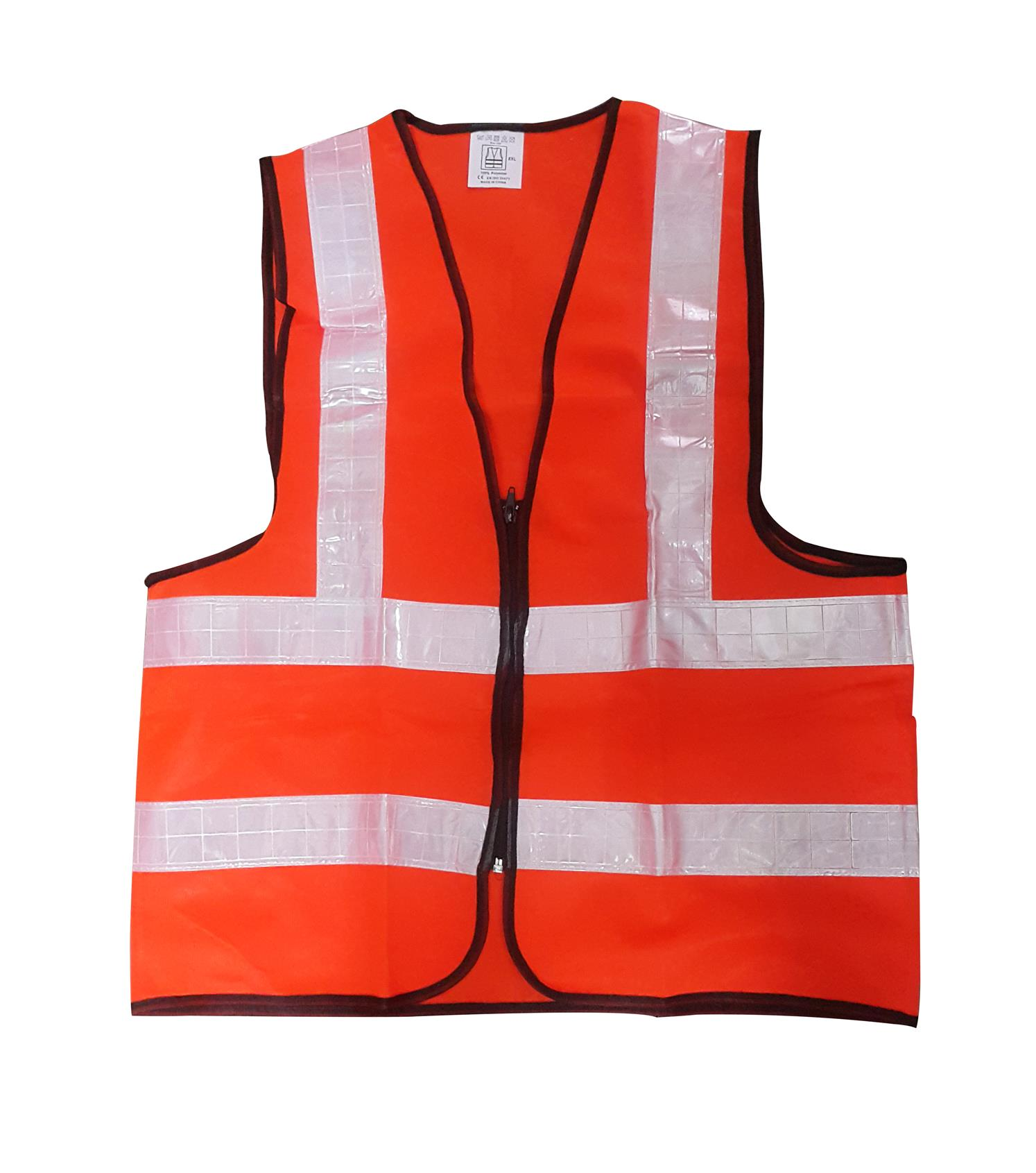 Safety Vest with White Line - Orange