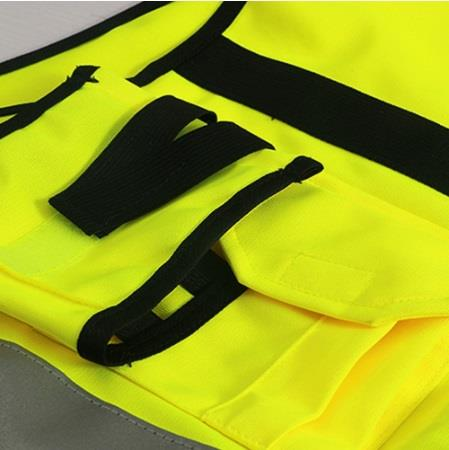 Safety Vest With Zipper Reflective Jacket Security Waistcoat W/ Pocket