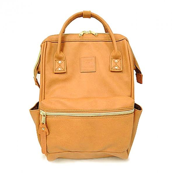 83f93d12f7a8 (SALE) ANELLO JAPAN PU Leather Casual Backpack (with Zip) Large Size