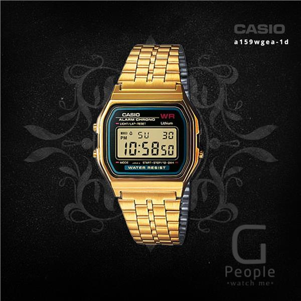 SALE !!! CASIO A159WGEA-1 DIGITAL RETRO WATCH ☑ORIGINAL