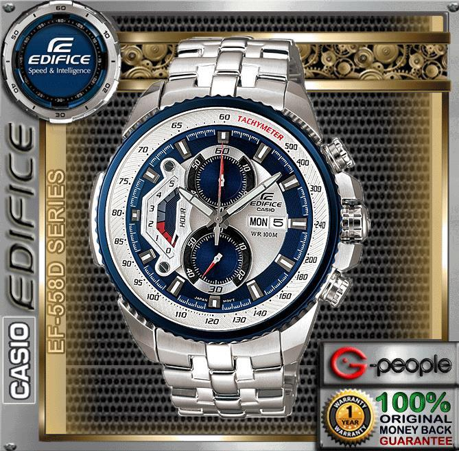 SALE !!! CASIO EDIFICE EF-558D-2AV CHRONOGRAPH WATCH ☑ORIGINAL