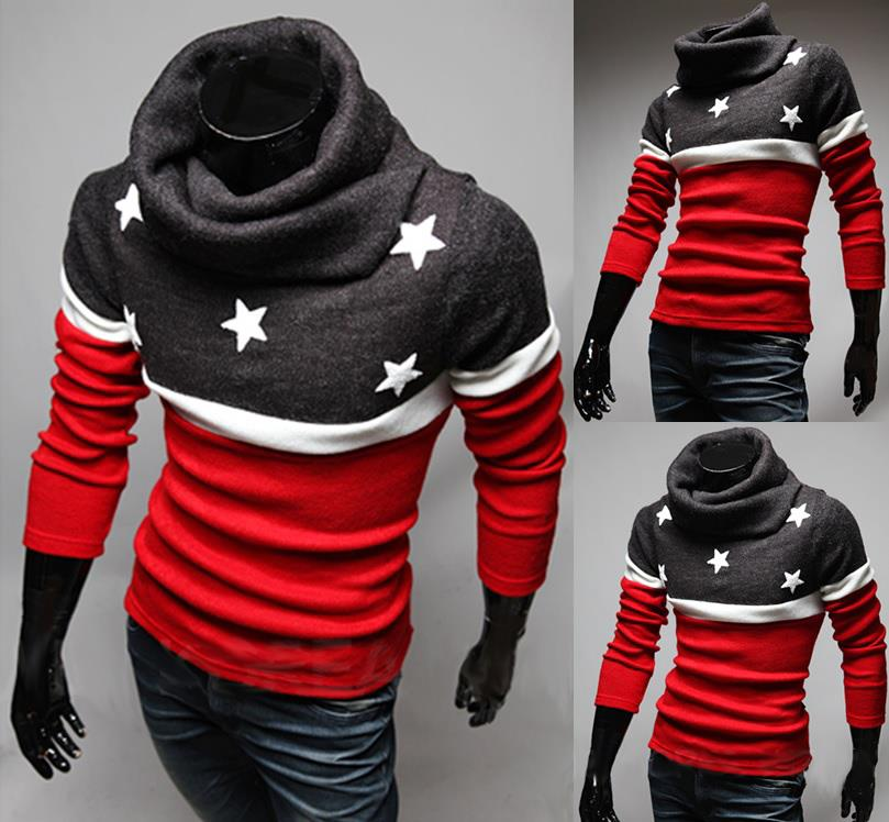 SALE!!! D.HOMME KOREAN CHARACTER HIGH COLLAR SWEATER
