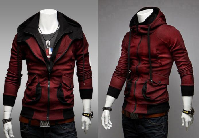 SALE!!! D.HOMME KOREAN LAYERED CHAMPION ZIP-UP HOODIE JACKET