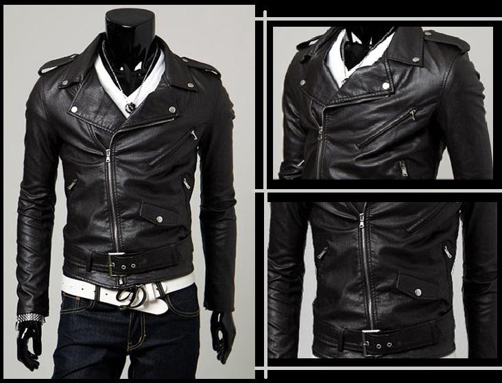 SALE!!! D.HOMME KOREAN STYLISH  BIKER PADDING LEATHER JACKET