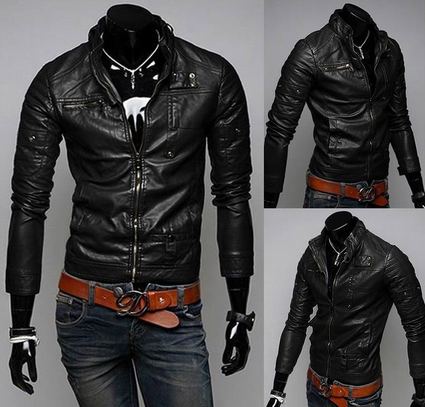 SALE~D.HOMME KOREAN STYLISH COPPER ROCK MOTORCYCLE JACKET