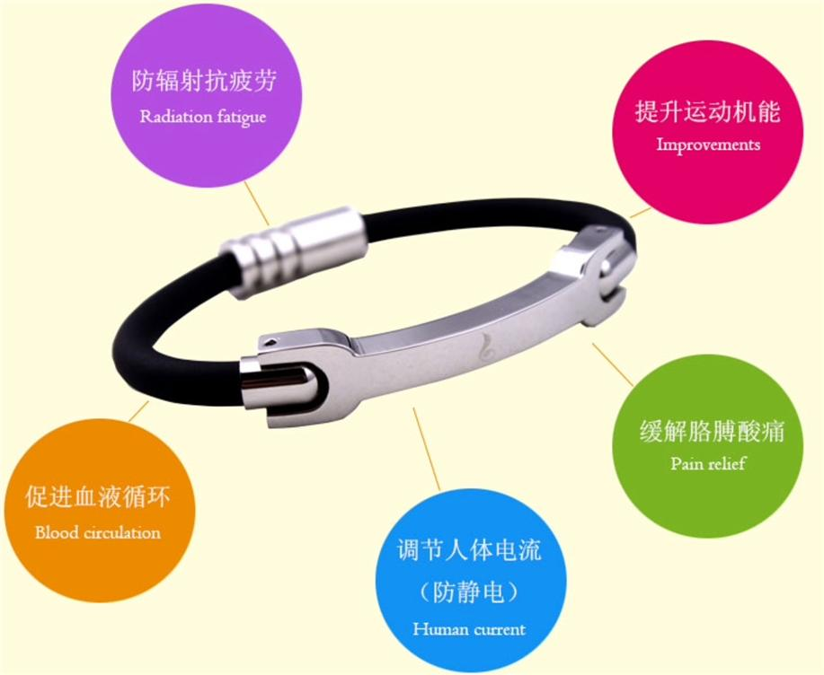 Japan Ion Magnetic Energy Titanium Health Bracelet
