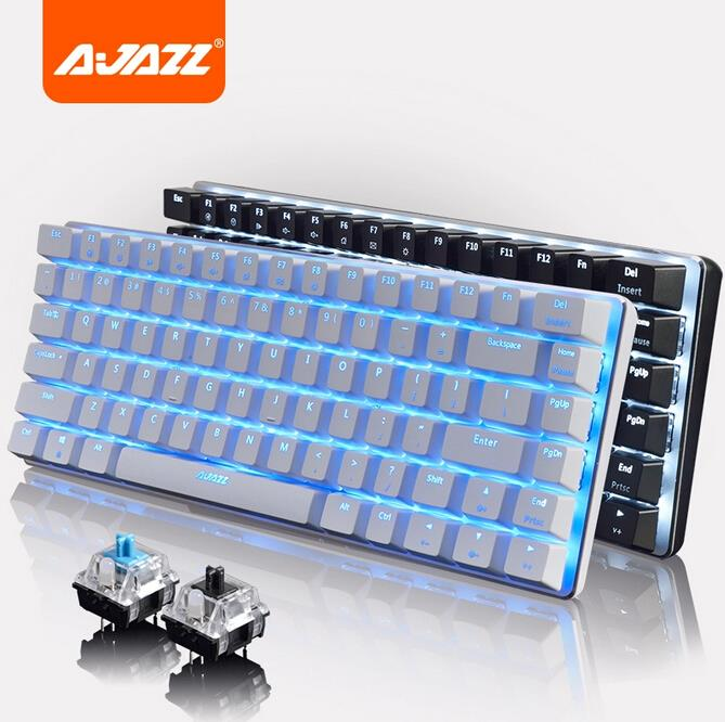 (Sale)A-Jazz AK33 LED Mechanical Gaming Keyboard,82 classic Keys Ajazz