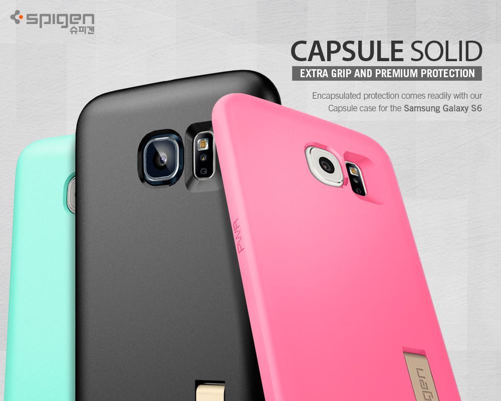 new style 76c61 a78d6 [SALE]Original Spigen SGP Capsule Solid Case for Samsung Galaxy S6