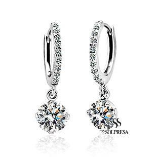 S Launching Price Clic Swarovski Crystal Zircon Earrings