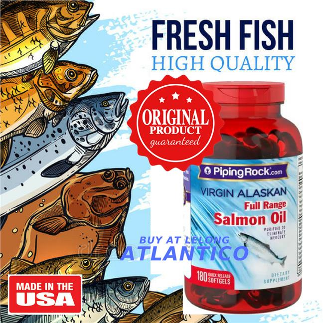 Salmon Oil 1000 mg Virgin Wild Alaskan Full Range 180 Softgels (Fish)