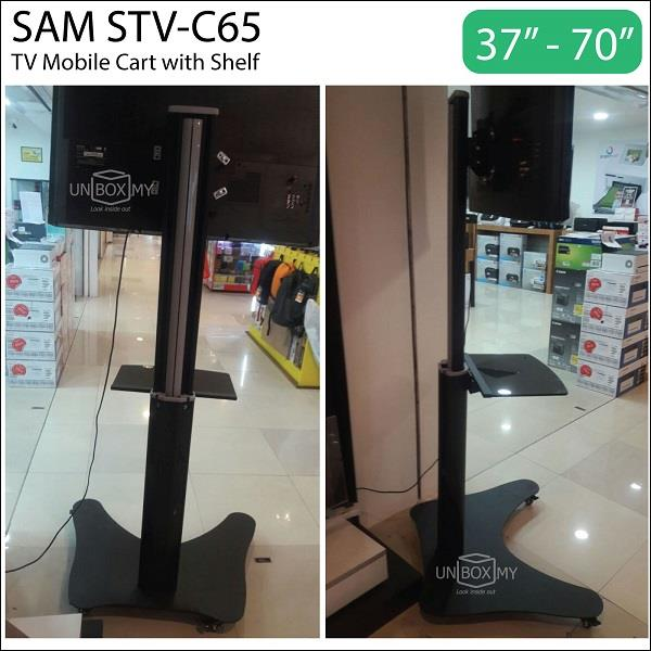 SAM STV-C65 37-70 inch Height Adjustable TV Cart Trolley Stand