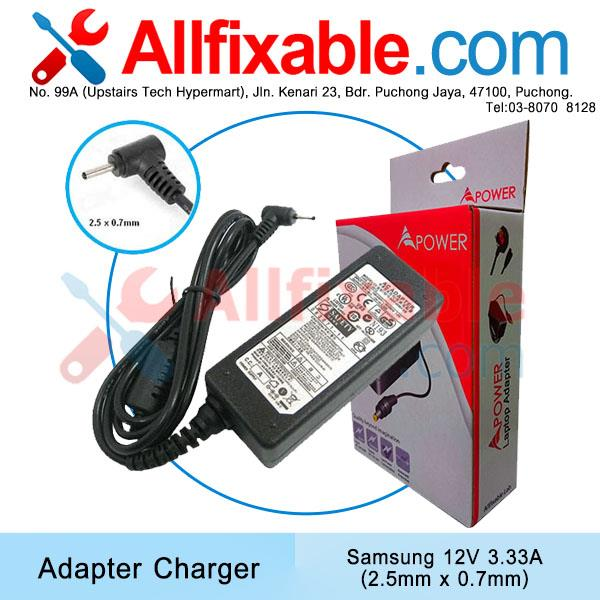 Samsung 12V 3.33A (2.5x0.7) ATIV Smart PC 500T 500T1C Adapter Charger