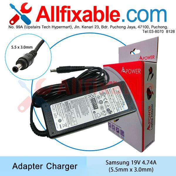 Samsung 19v 4.74a NP350E5C NP355E5C NP355V5C NP365E5C Adapter Charger