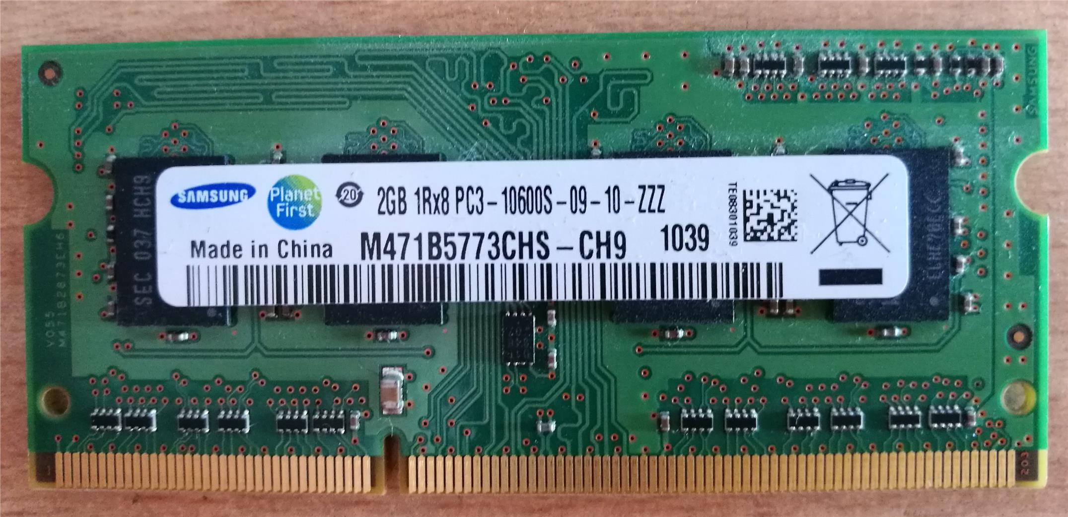 Samsung 2GB DDR3 1333MHZ NOTEBOOK LAPTOP RAM CLEAR STOCK PRICE