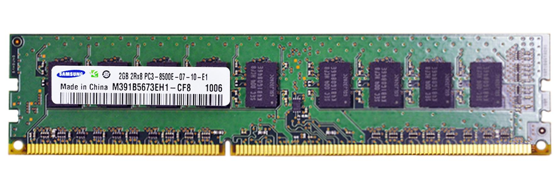 Samsung 2GB PC3-8500E DDR3-1066 Unbuffered ECC 2Rx8 Server Memory