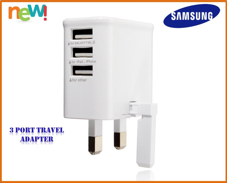 Samsung 3 Port Travel Adapter/ Fast Charging Android iOS