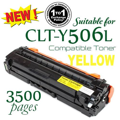 Samsung 506L / CLT-Y506L / 506 Yellow Premium Compatible Color Laser Toner Car
