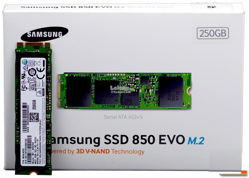 SAMSUNG 850 EVO M.2 250GB SATA III 3-D Vertical Internal SSD