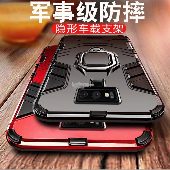 the best attitude 4cf5d 67e9a Samsung A50 M20 S8 S9 Plus Note 9 MAGNETIC RING Ironman Case