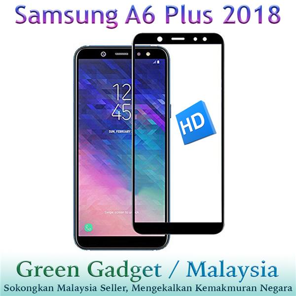 SAMSUNG A6 Plus 2018 Full Glue Screen Protector Tempered Glass