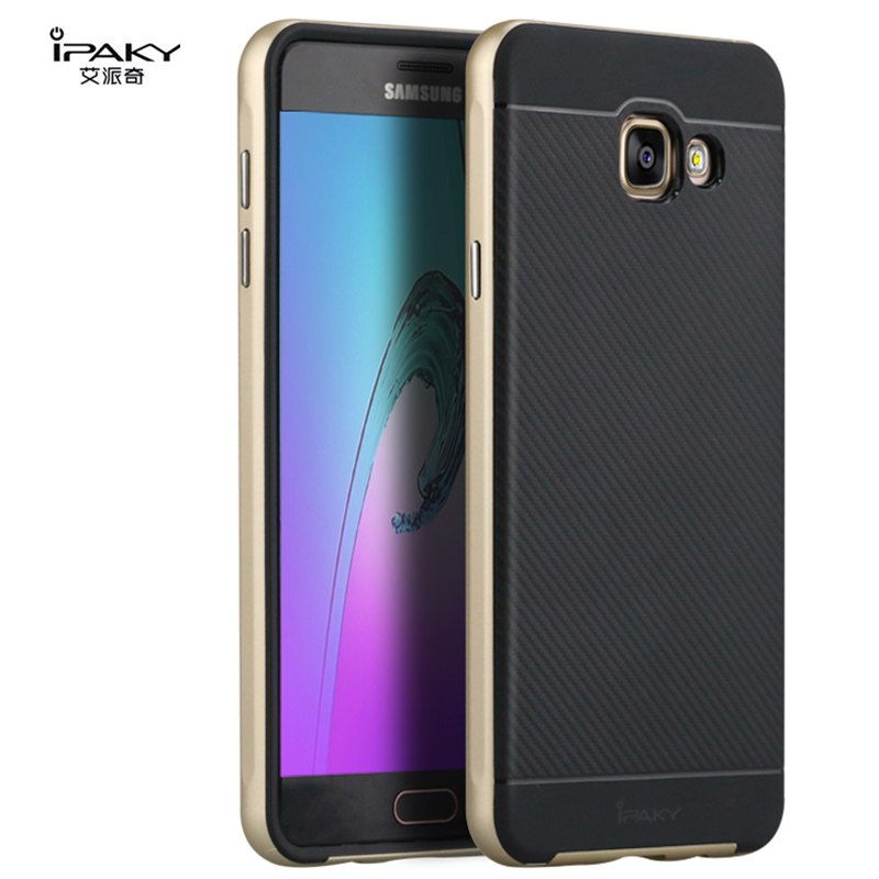 brand new ec850 7fa5f Samsung A7 2016 A710F A7100 PC Frame+Silicone Back Cover Casing-Gold