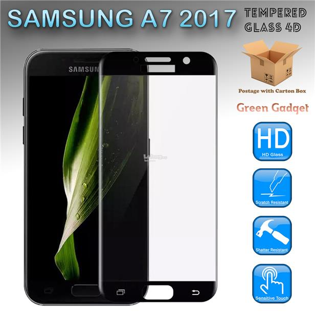 SAMSUNG A7 2017 Full Glue 4D Tempered Glass Screen Protector