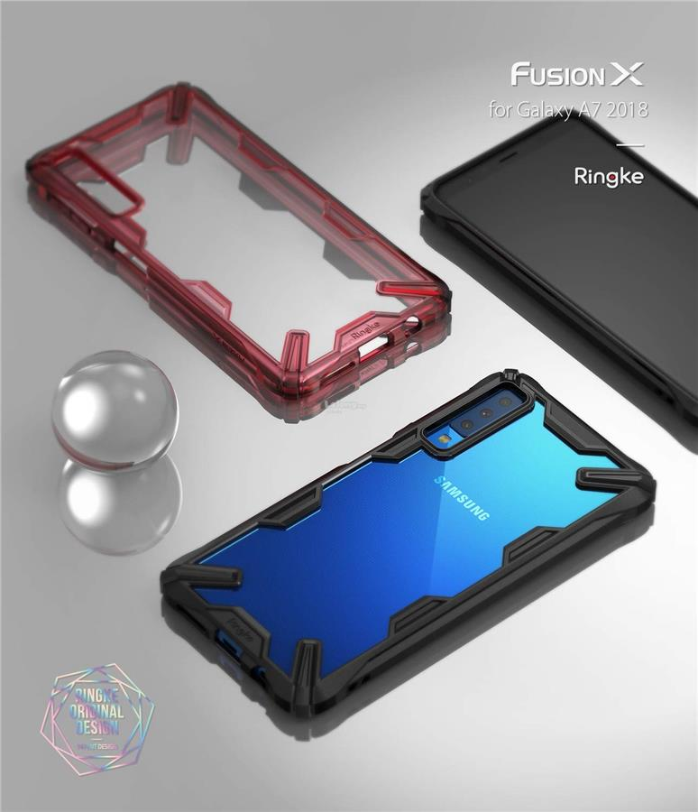 hot sale online 5e984 38ef7 Samsung A7 2018 - Ringke Fusion-X Fusion X Case Cover