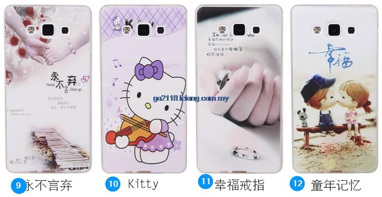 Samsung A7 Cartoon Kitty one piece Case Casing Cover Flip Cover