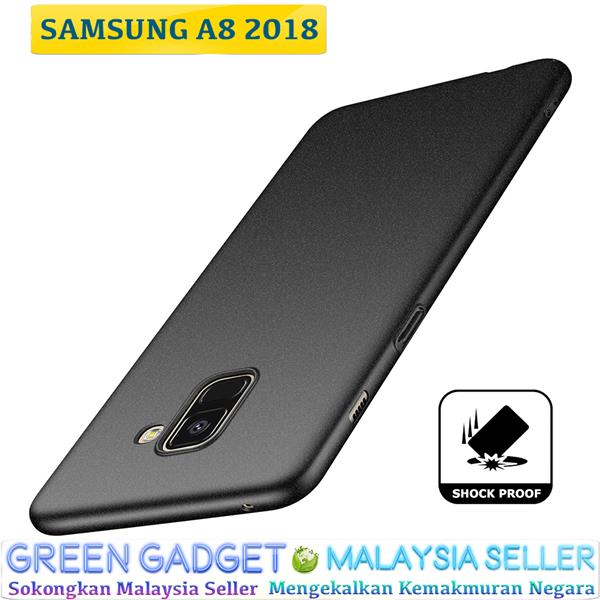 SAMSUNG A8 2018 Case Cover Thin Fit Hard (Black)